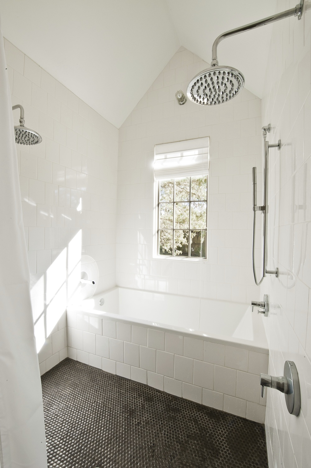 New construction david anderson architect for Wet floor bathroom designs