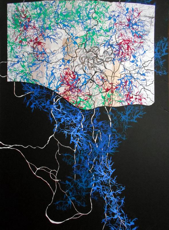 Géographie imaginaire II , 110x70cm