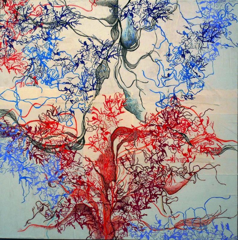Rhizomes , 100x100cm