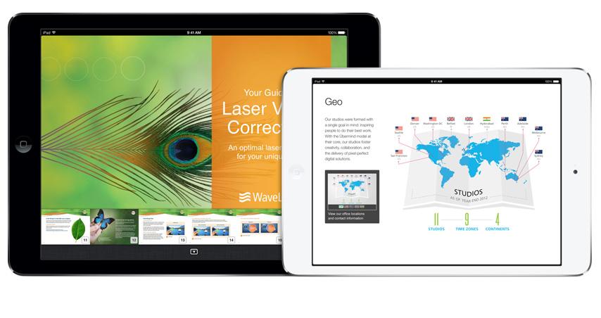 Nell'immagine, il menù di navigazione di iBooks