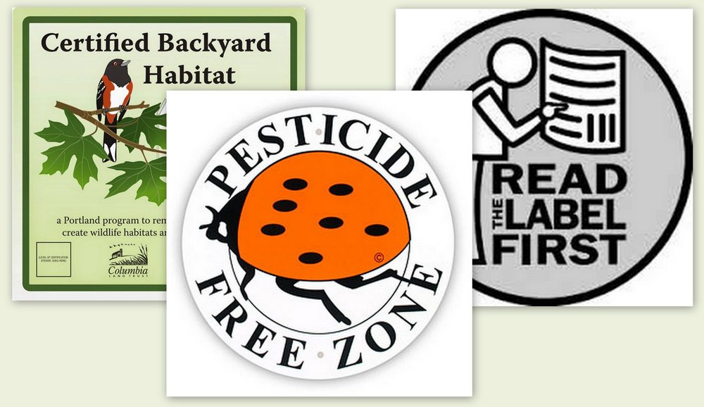 We Honor Pesticide Free Zones • Backyard Habitats Right to Transparency