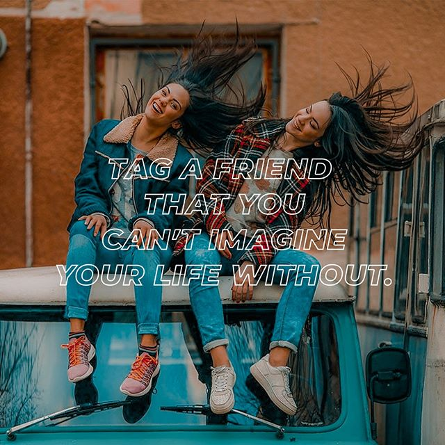 Tag a friend you can't live without! We can't wait to see you and your friend(s) this Wednesday at 6:30!