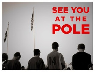 """Tomorrow morning is """"See You At The Pole"""". Go to your school 15 minutes early and pray for your teachers, classmates, and our nation. Let's do this together, and lets give this school year to JESUS! I will be at Andover High School tomorrow at 7am! I WILL SEE YOU AT THE POLE!"""