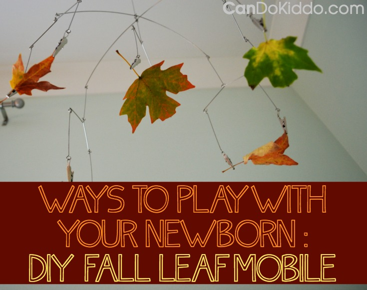 fall sensory play newborn baby nursery mobile