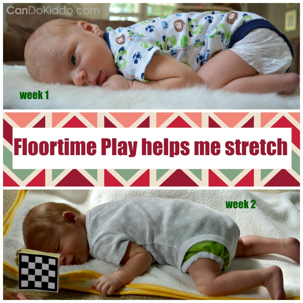 The value of floortime play for babies - stretch out of any asymmetries from womb position