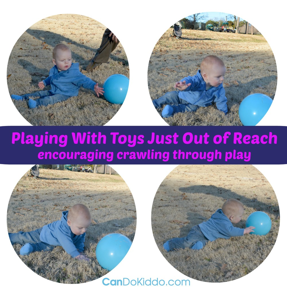 Promote crawling through play. Tips and Ideas for laying the foundation of strength and skills for crawling. CanDo Kiddo