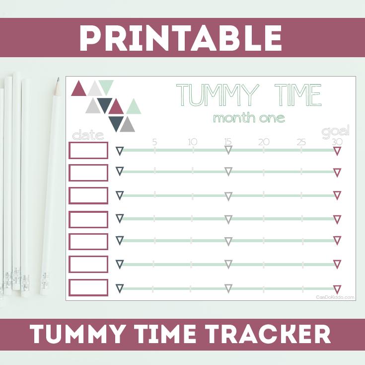Printable Tummy Time Log