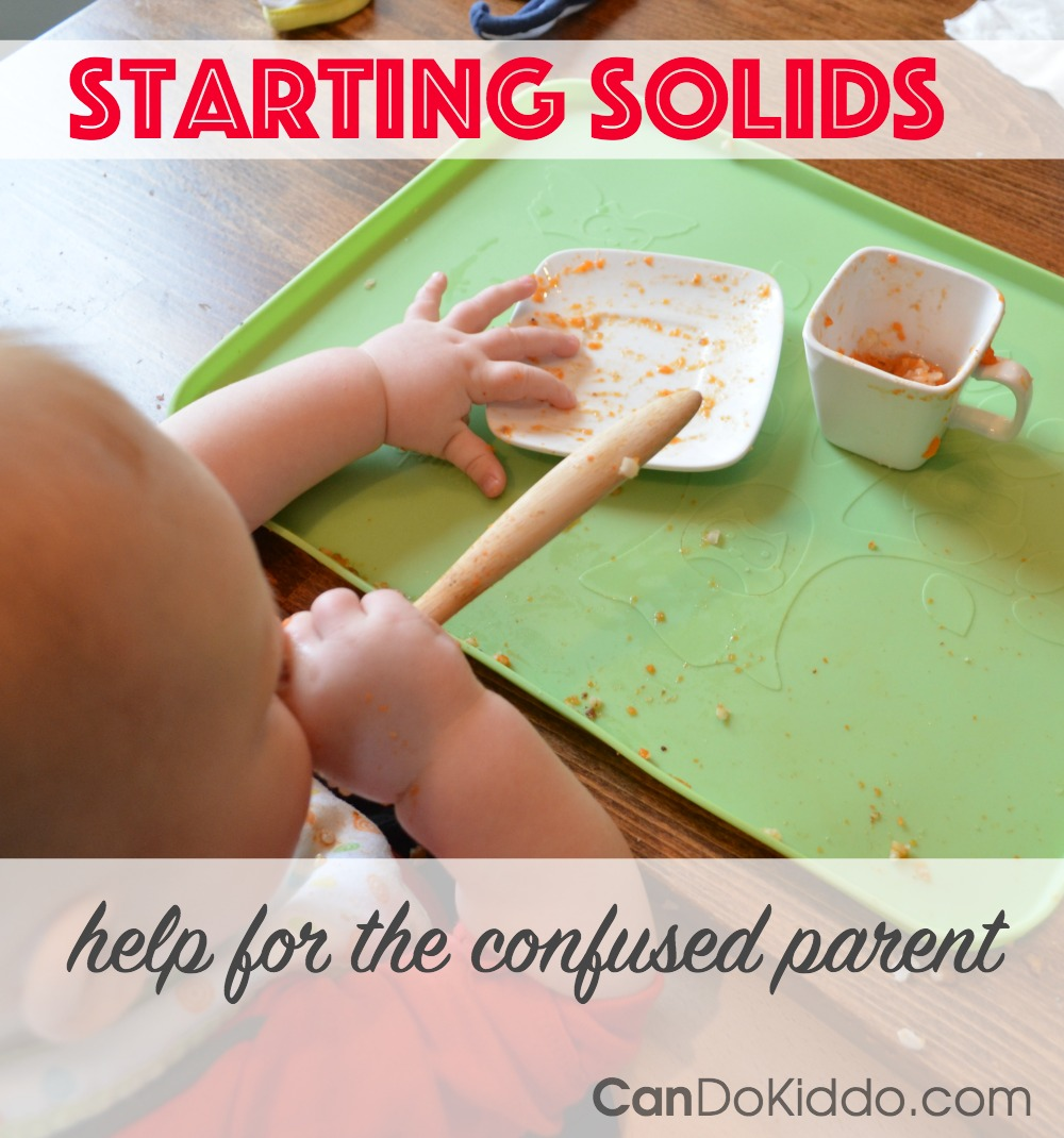 When to start solids foods. CanDo Kiddo