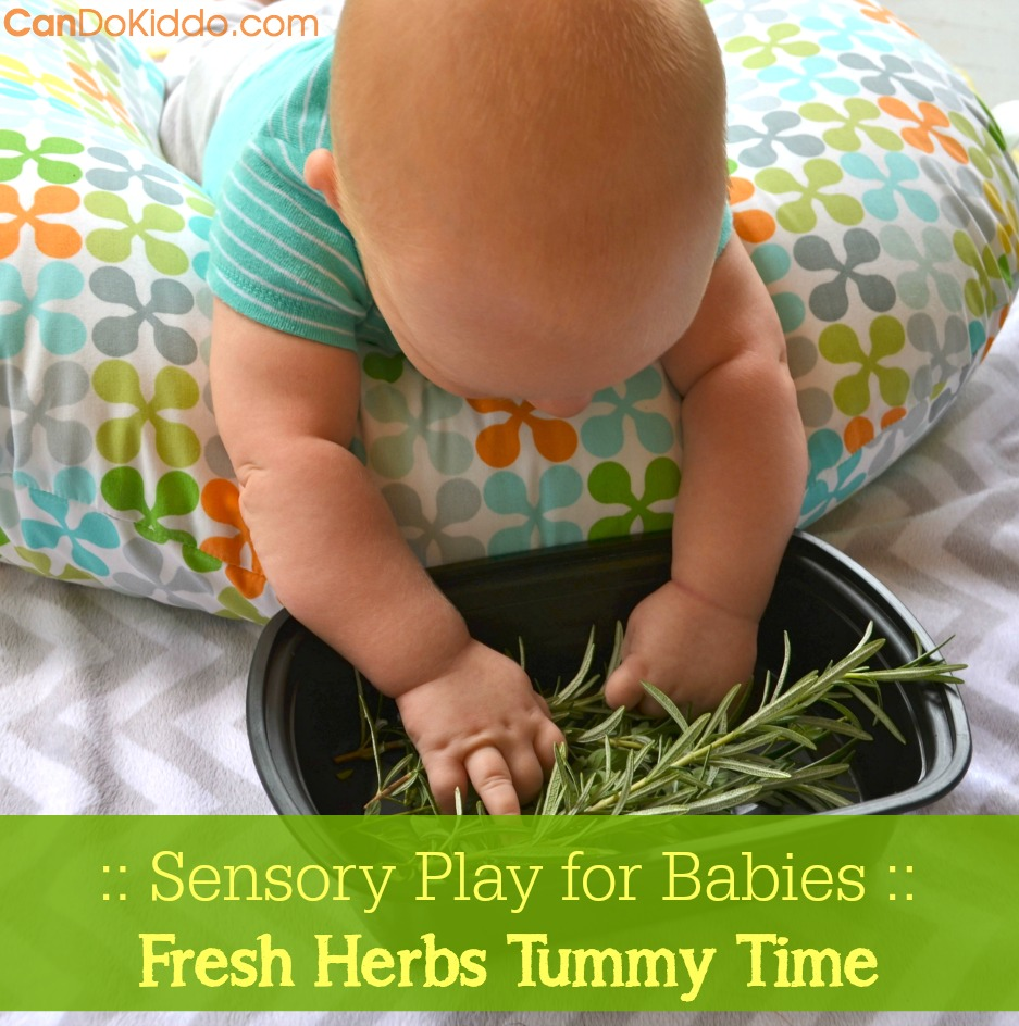 Simple scented play for Tummy Time. CanDo Kiddo