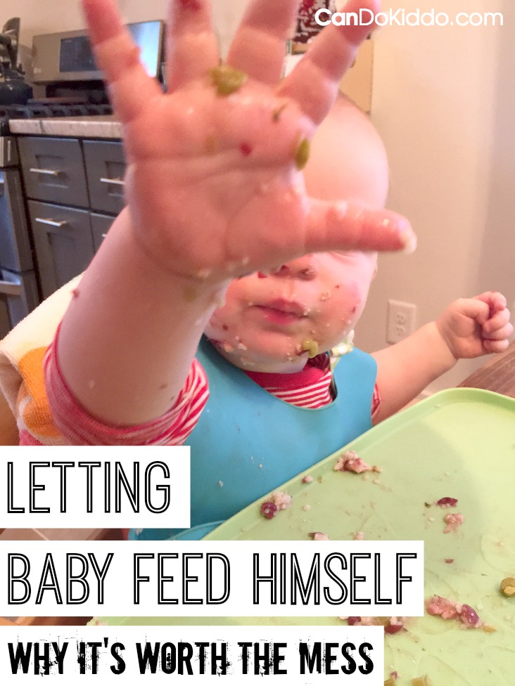 a pediatric OT and mommy shows you how to teach baby to feed himself. CanDo Kiddo