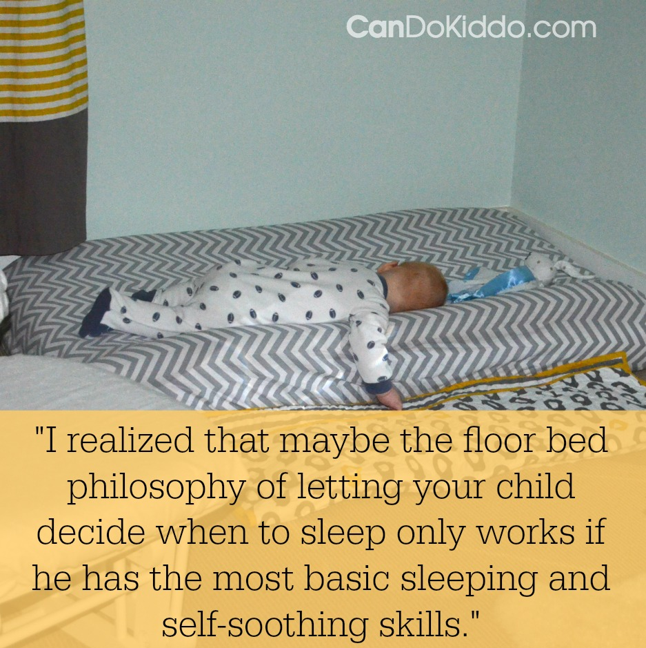 a montessori floor bed and baby sleep problems — cando kiddo