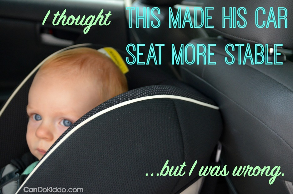 Car Seat Touching front seat may not be safe. Learn More CanDo Kiddo