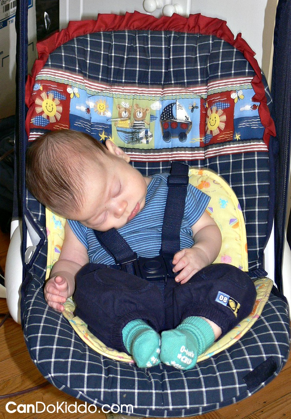 Safe healthy positioning in baby gear. Parent tips. CanDo Kiddo