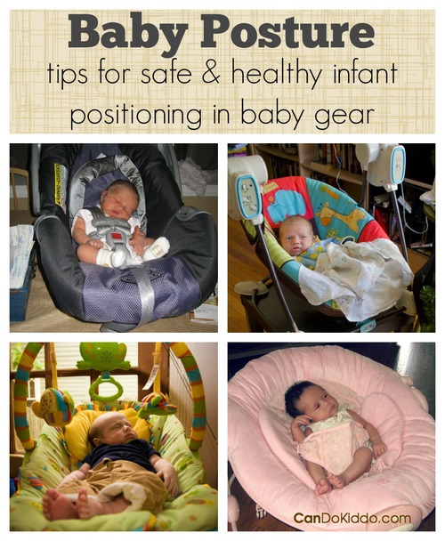 Baby posture safe and healthy positioning in baby gear cando kiddo