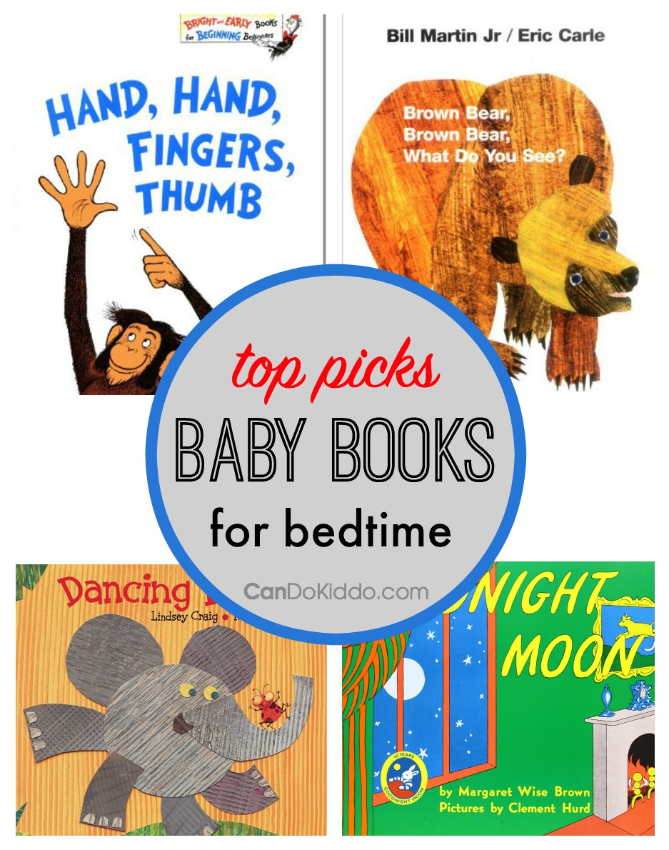 Great baby books for bedtime - early literacy and language development. CanDo Kiddo