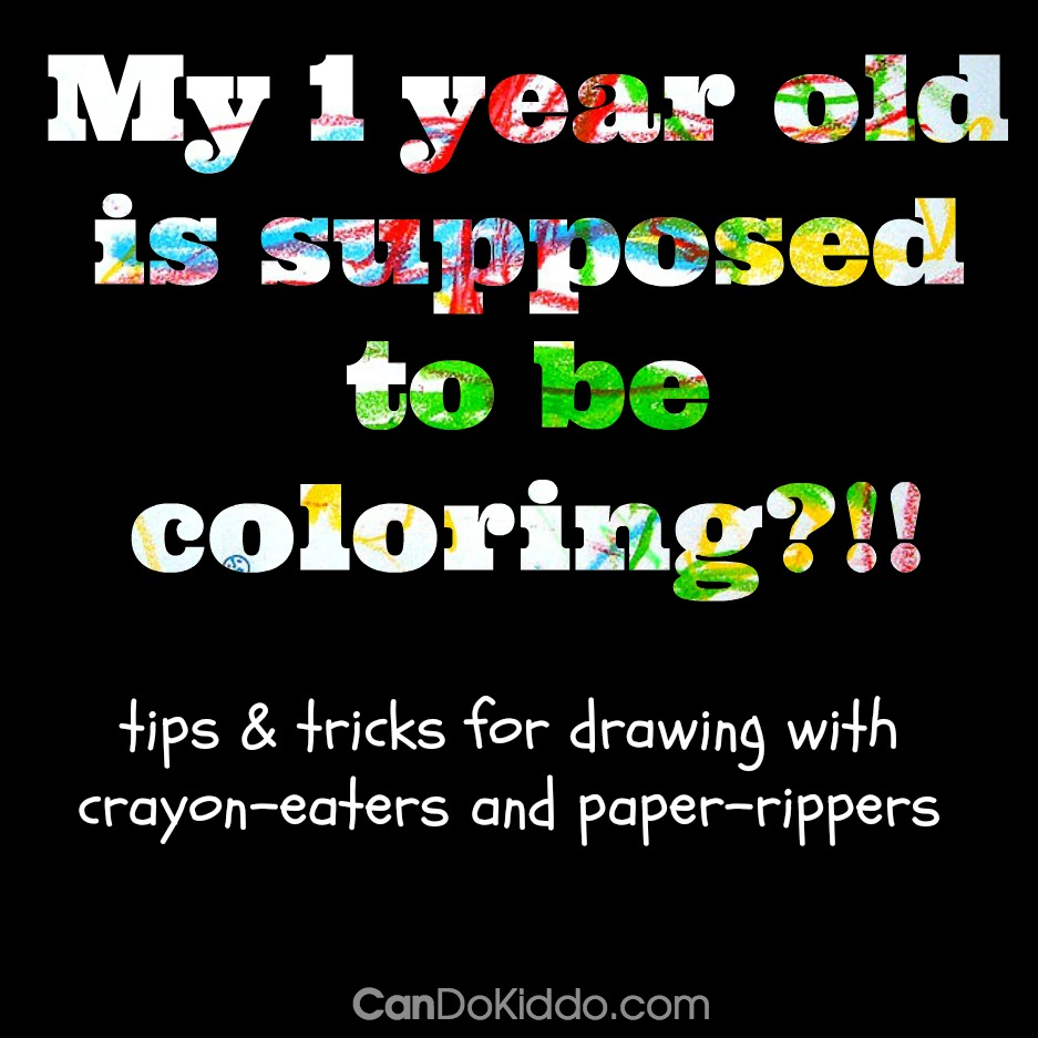 Drawing play for babies and toddlers - tips from a pediatric OT and mommy. CanDo Kiddo
