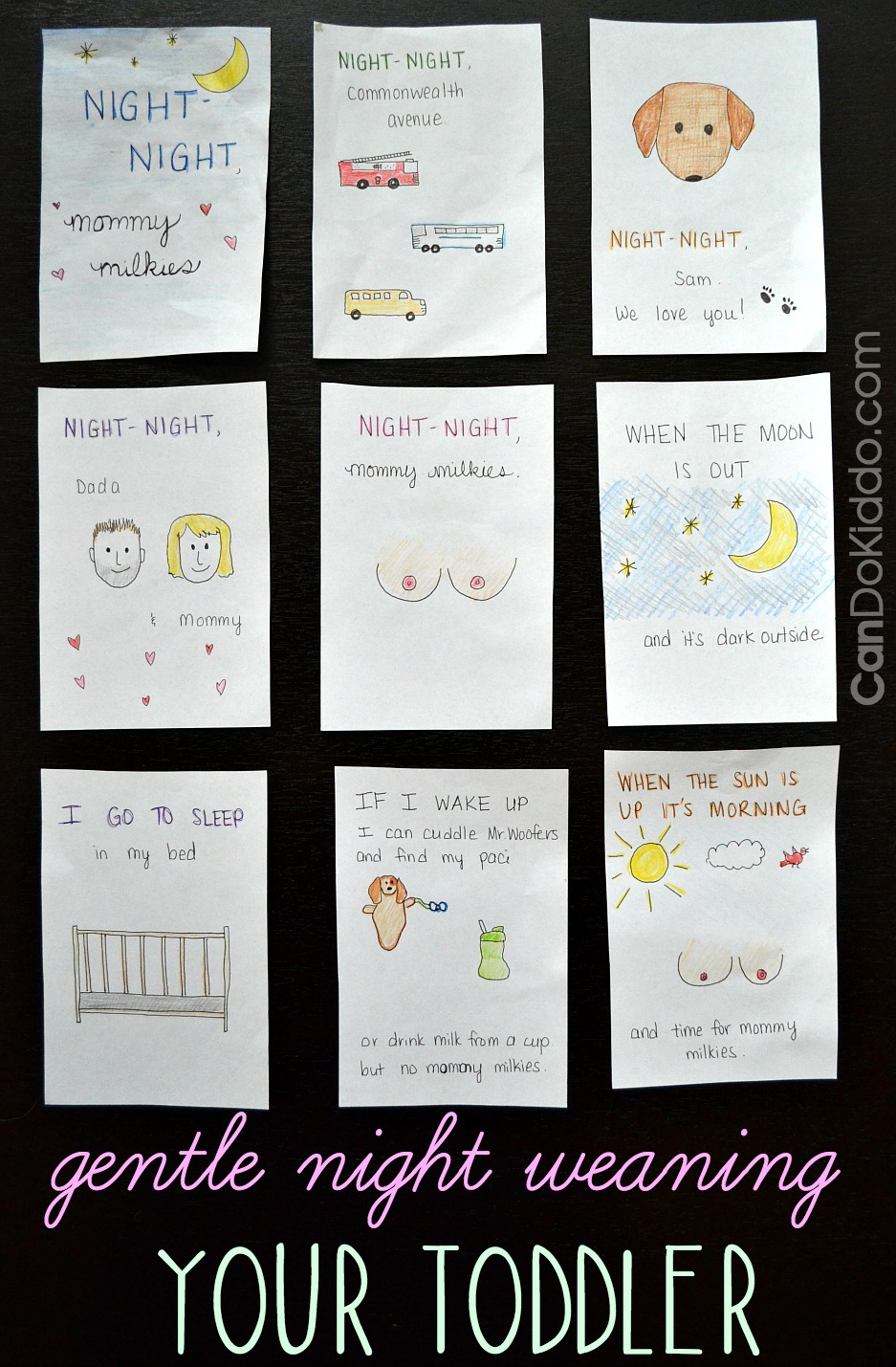 using social stories as part of a gentle night weaning approach for toddlers. CanDo Kiddo
