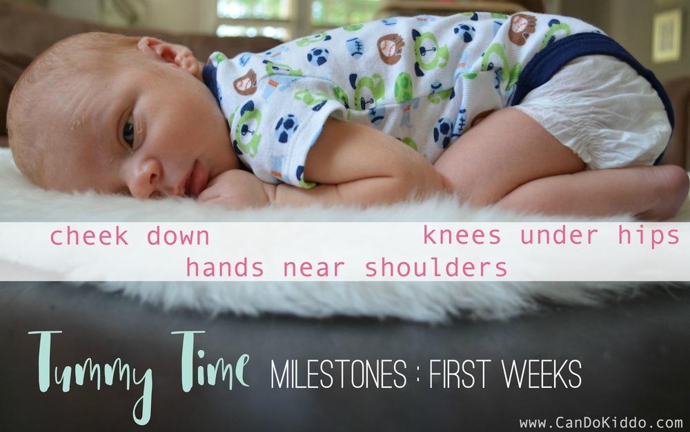 Tummy Time in Newborns - milestones every new parent should know. CanDoKiddo.com