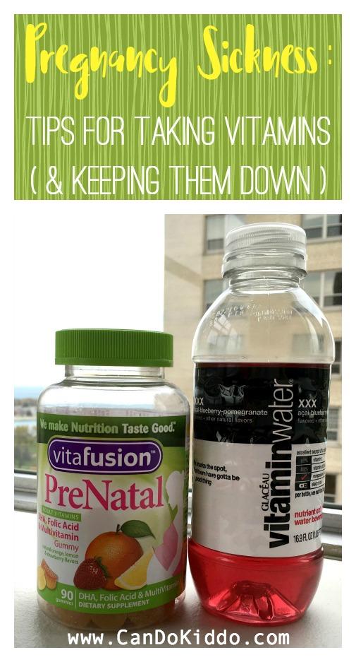Keeping prenatal vitamins down. www.candokiddo.com
