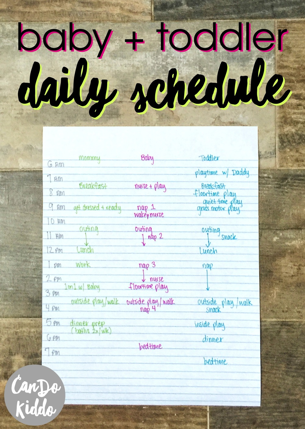 My Stay At Home Infant And Toddler Schedule Cando Kiddo