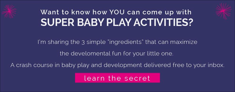 Secret Recipe for Super Baby Play. www.CanDoKiddo.com