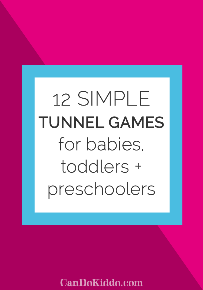 grab your play tunnel and have some fun - perfect play for siblings. CanDoKiddo.com