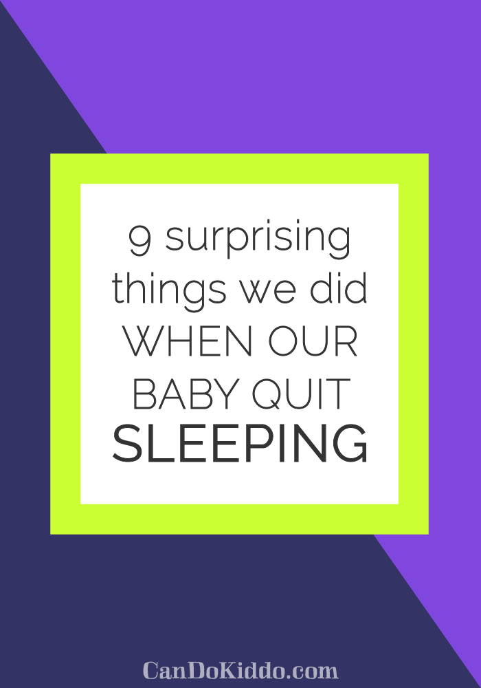 dealing with baby sleep problems and sleep regressions. CanDoKiddo.com