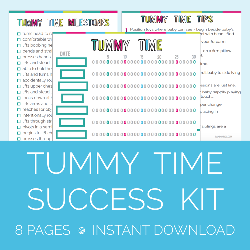 Tummy Time success kit printable organization for new mom new baby