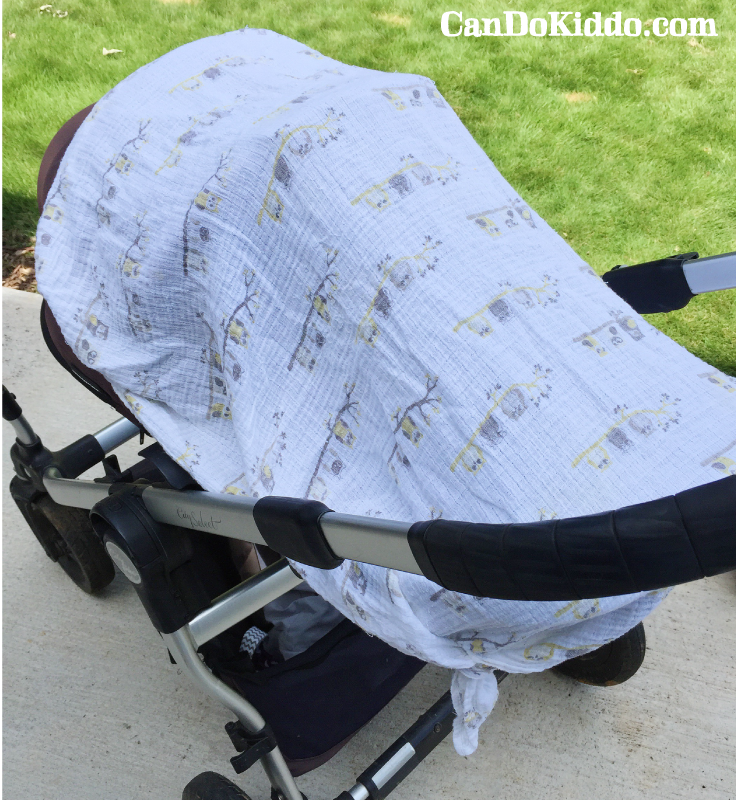 Car seat canopy and cover dangers. CanDoKiddo.com