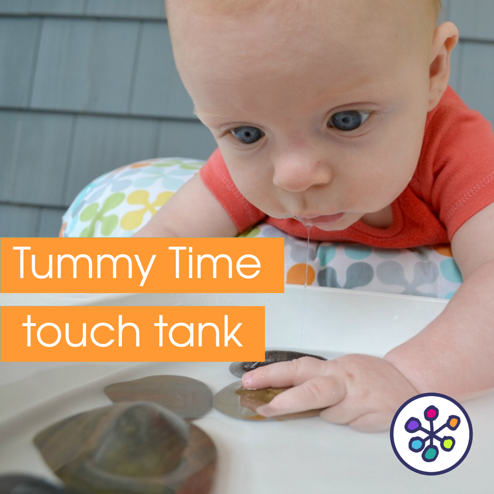 Tummy Time sensory play . CanDoKiddo.com