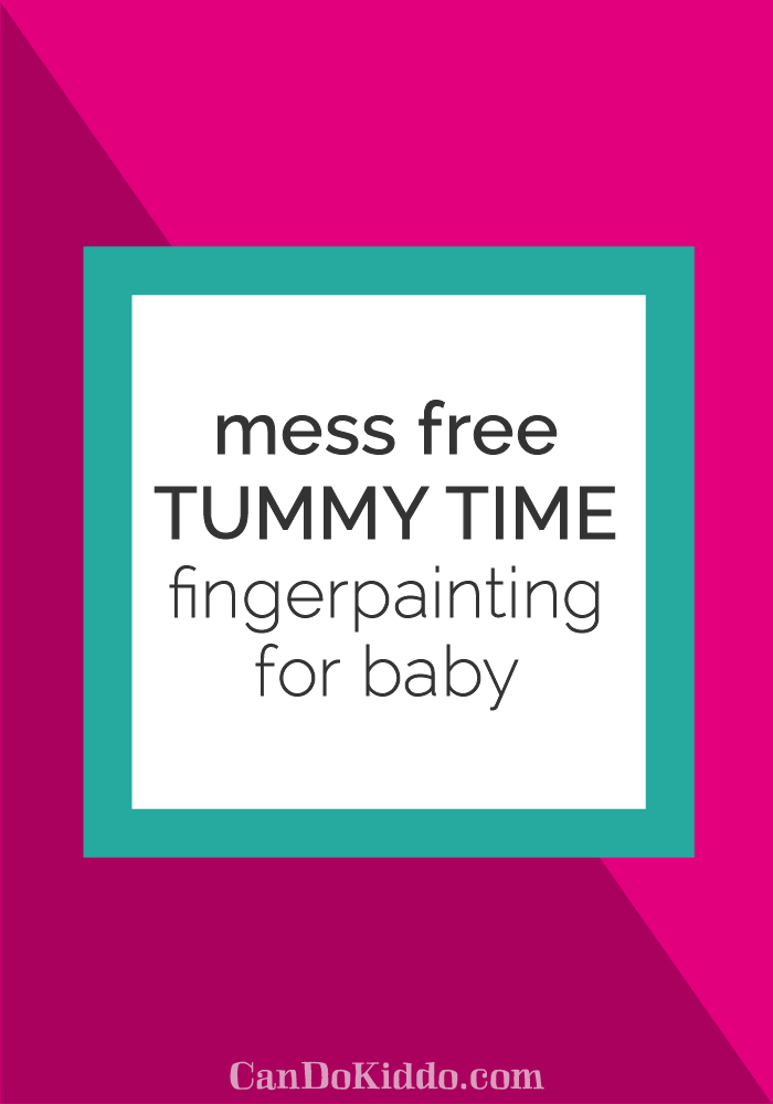 tummy time play ideas plus sensory play for baby. CanDoKiddo.com
