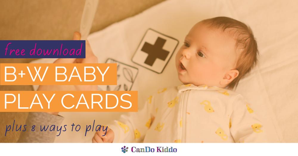 Black & White Baby Cards www.candokiddo.com
