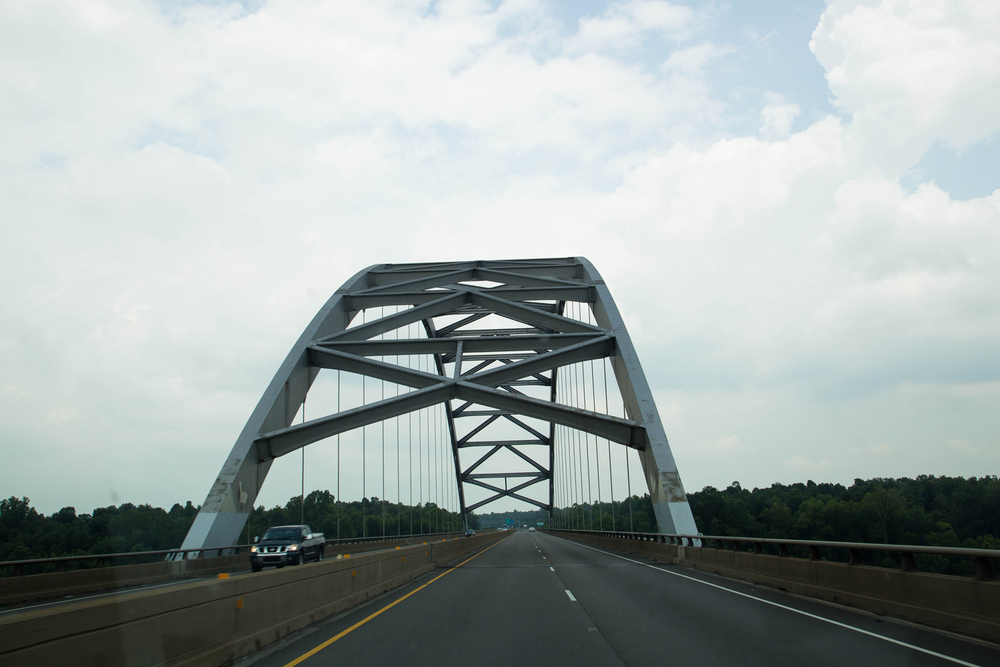 For some reason, I became really fascinated with all of the bridges we passed through on our trip.  You just don't see bridges like this in Georgia!