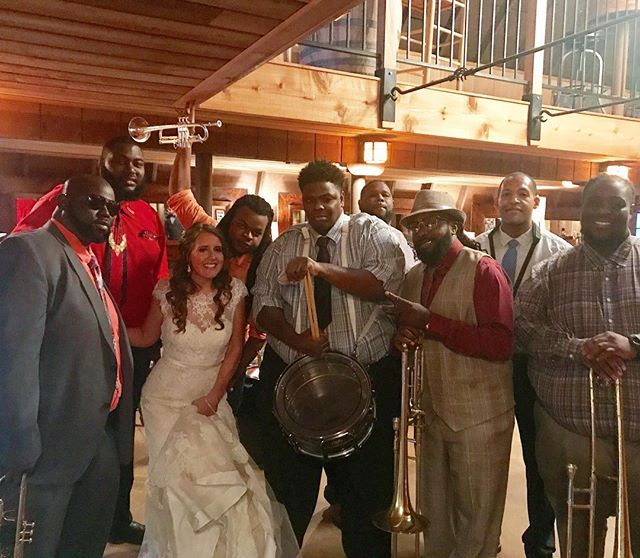 If you can't get married in Nola bring Nola to you. Thank you @hot8brassband for an incredible night. #fendlerbender 📷: @alyssac27
