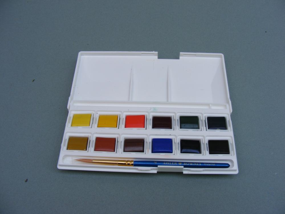 watercolour pans