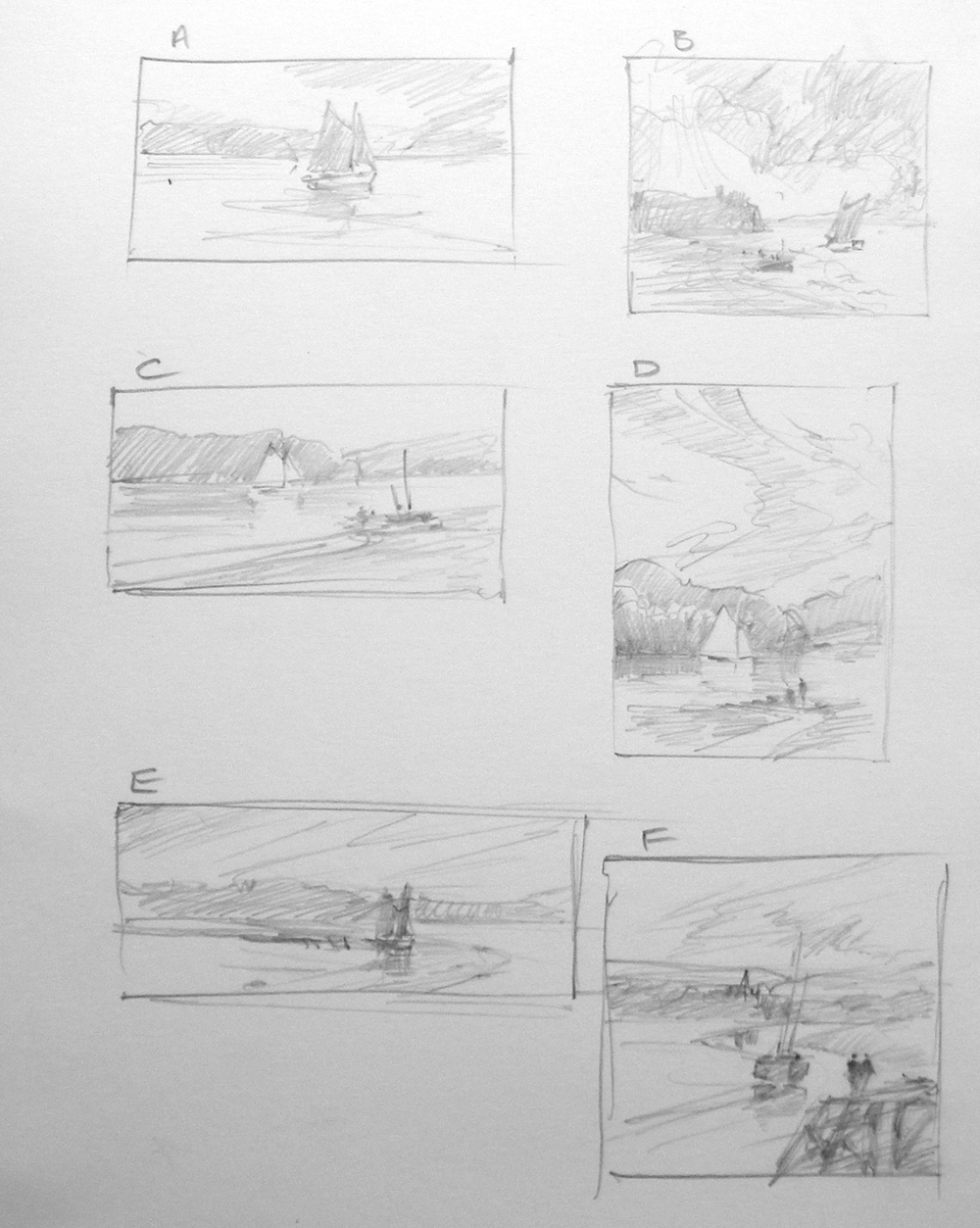 six quick sketches