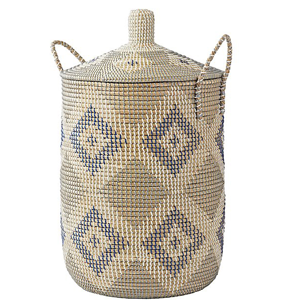 Land of Nod Seagrass Hamper