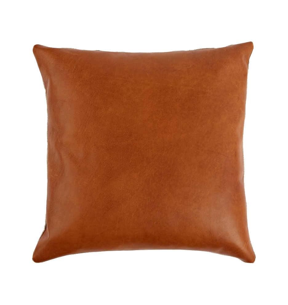 Rejuvenation Leather Pillow Cover