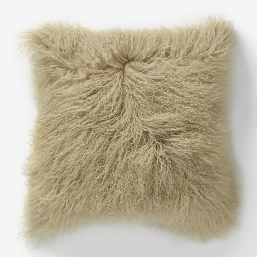 West Elm Mongolian Lamb Pillow Cover