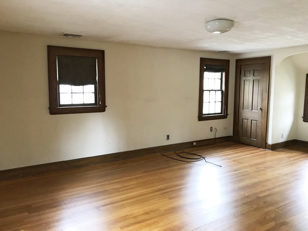 Three bedrooms, 1.5 bathrooms. The good news is that the bedrooms and bathrooms are in pretty good shape!