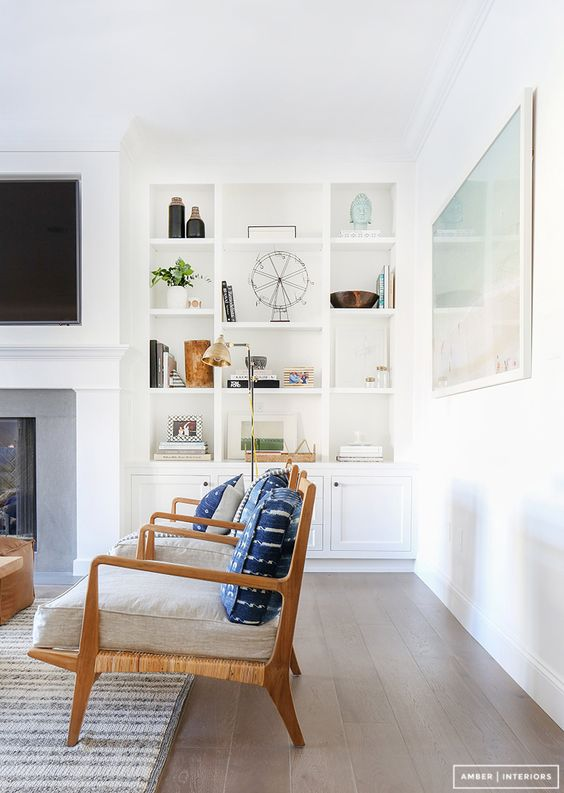 Love these built-ins and fireplace. | Source:  Amber Interiors