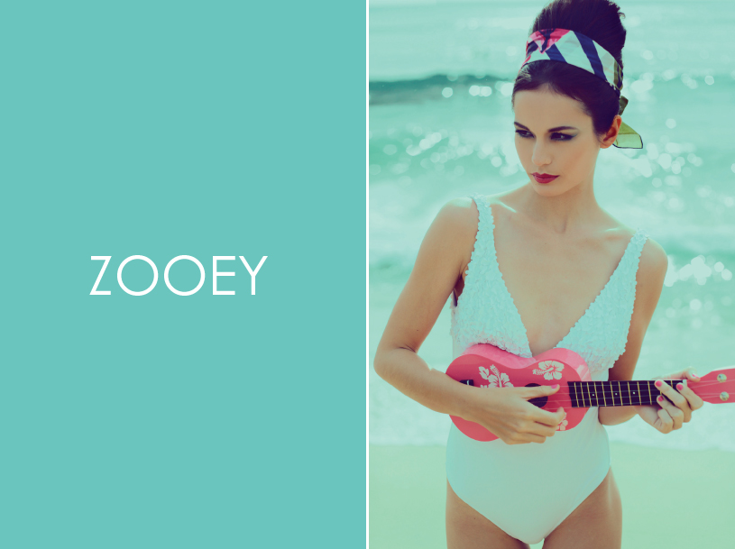 Zooey Magazine, Vintage Beach Editorial, Hawaii