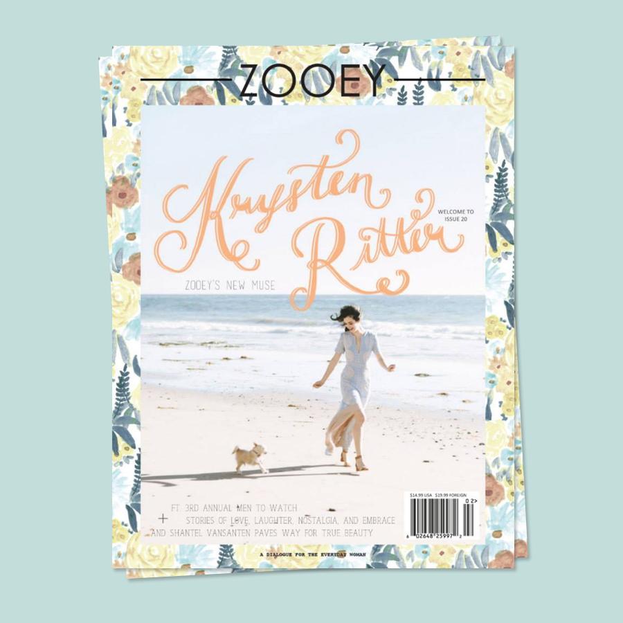 Krysten Ritter, Zooey Magazine