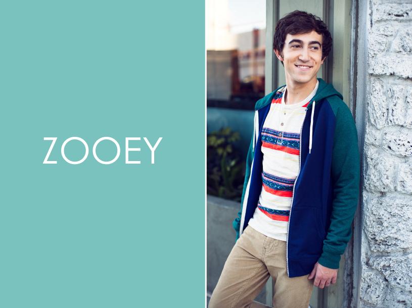 Vincent Martella, Zooey Magazine