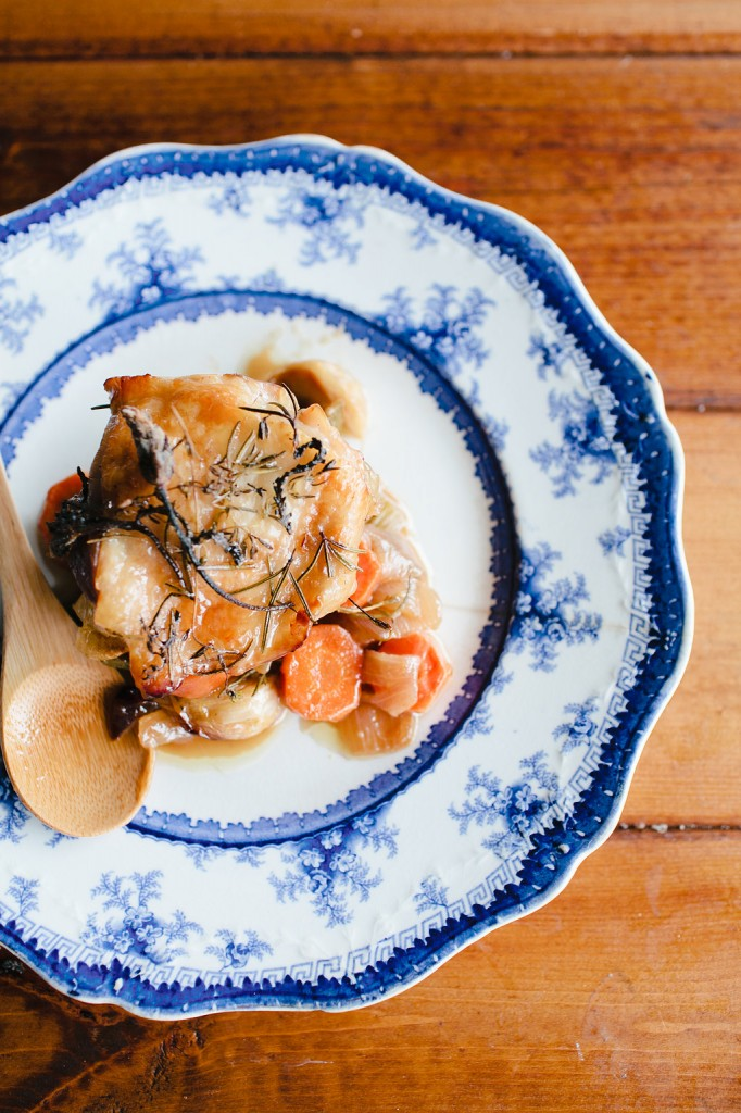 Provencal Spring Inspired Braised Chicken Thighs Recipe, Zooey Magazine
