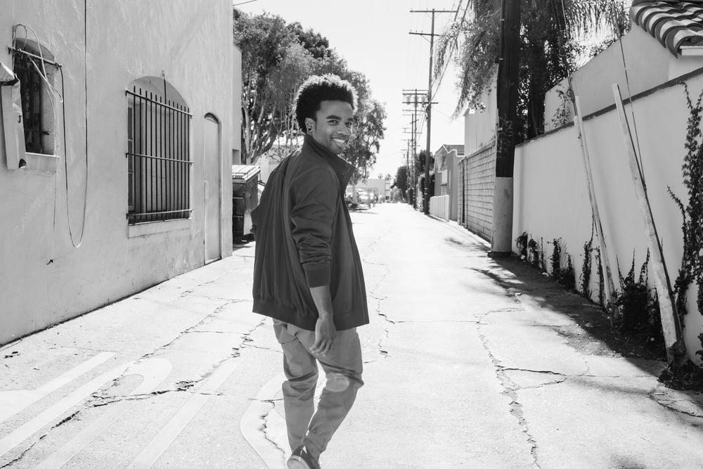 Jacket: Everlane. Pants: Gap. Shoes: Steven Madden.