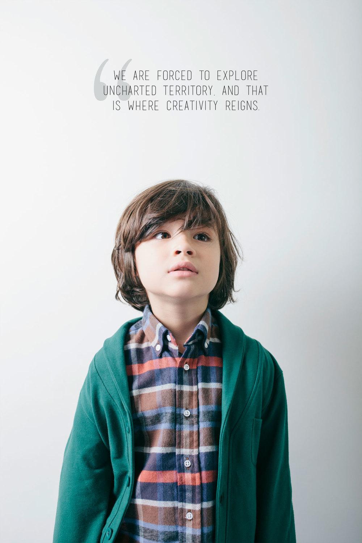 Shirt: Anjo Kids. Blazer: Anjo Kids.
