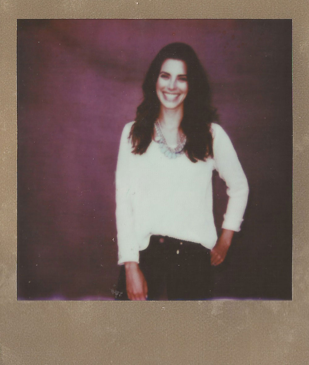 Meghan Ory, Color Film for 600 Gold Frame