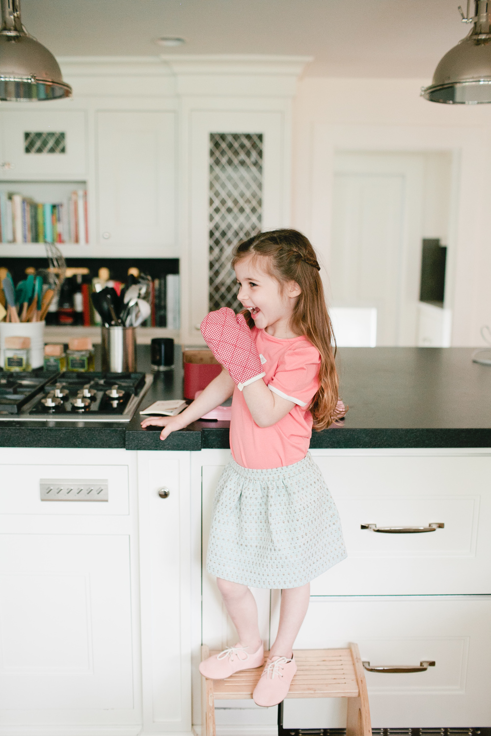 Top: Ode to Jeune. Skirt: Mimosa Kids. Shoes: Zuzii.