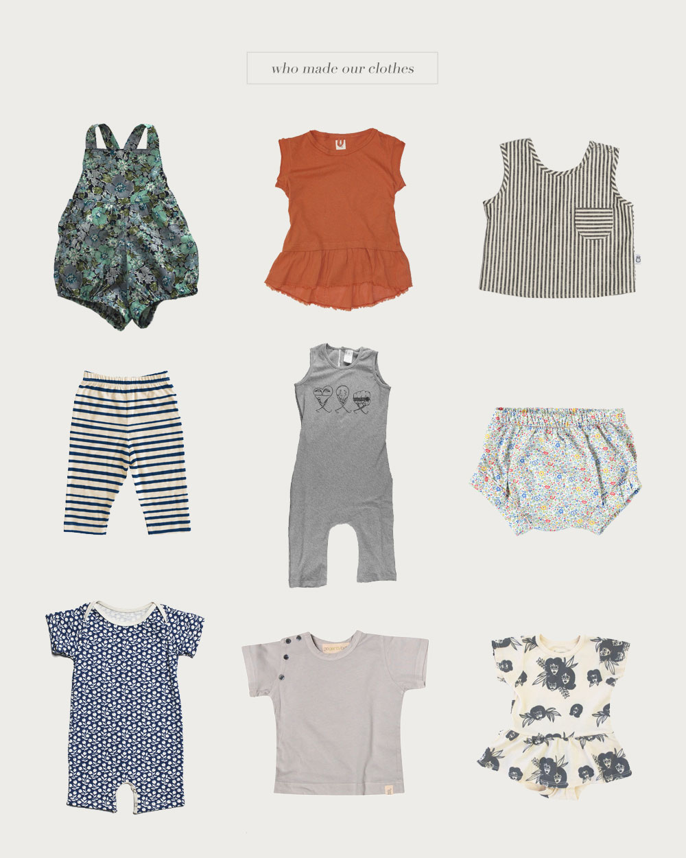 Who Made Our Clothes, Made in USA, Kids Clothing